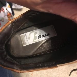 bata shoes Shoes - Bata Brown Leather Boots Italy Mens Size 42